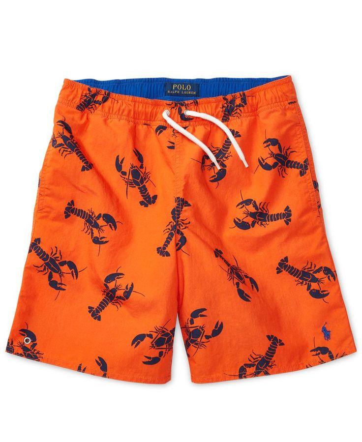 Ralph Lauren Printed Swim Trunks, Big Boys (8-20)