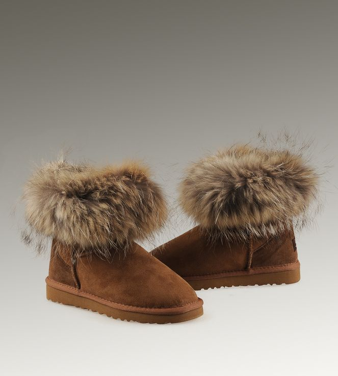 17 Best Images About Women Ugg Fox Fur Boots On Pinterest