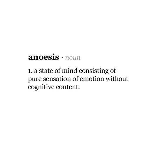 anoesis. how i am when im with you <3