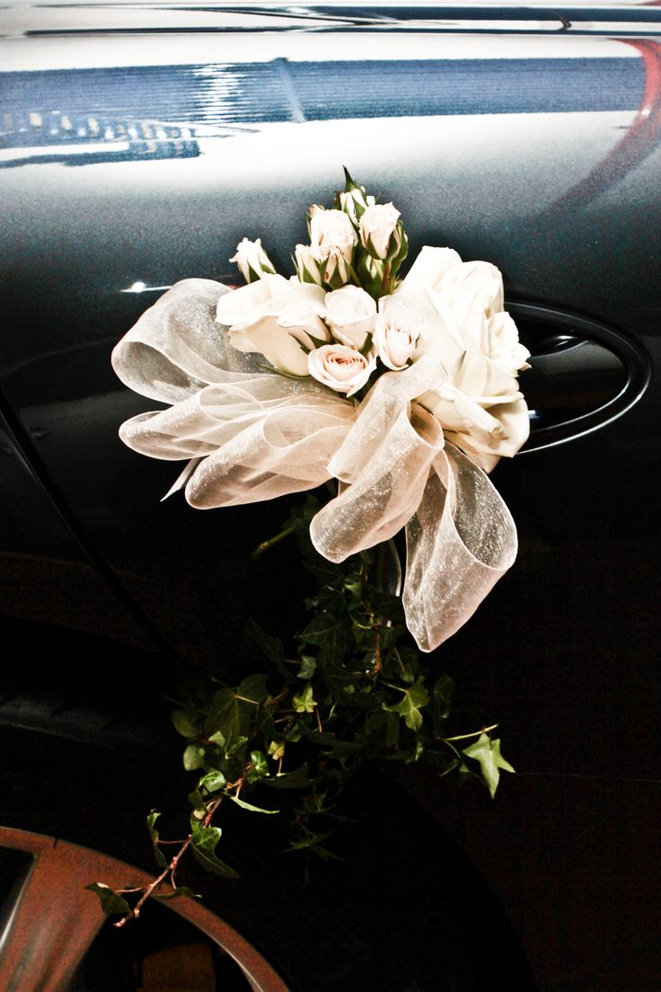 wedding car decoration, just married, auto de lujo, boda