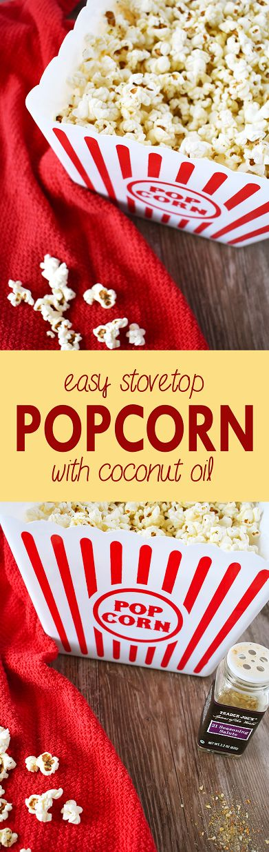 Ditch the bagged popcorn and make this easy stovetop popcorn with coconut oil   The Small Town Foodie