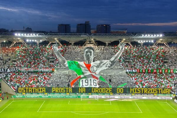 Amazing Tifo by Legia Warsaw Fans | Soccer with Chris