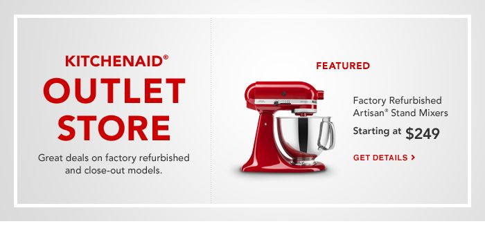 Outlet and Refurbished | KitchenAid
