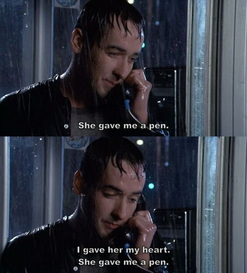 One question: are you here 'cause you need someone, or 'cause you need me? (say anything,lloyd dobler,say anything...,john cusack,love,text,quotes,quote)