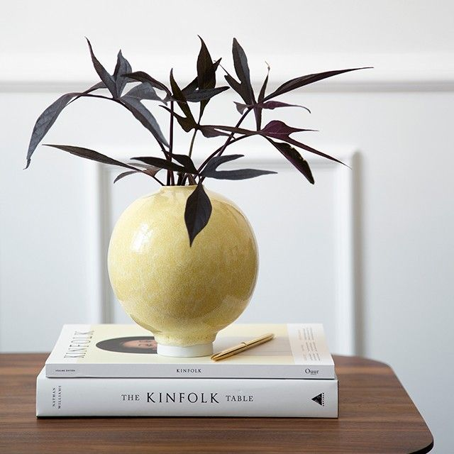 The large sculptural Unico vase has a unique glaze that settles naturally, heavily and randomly on the ceramics and ends as a heavy drop frozen in time.