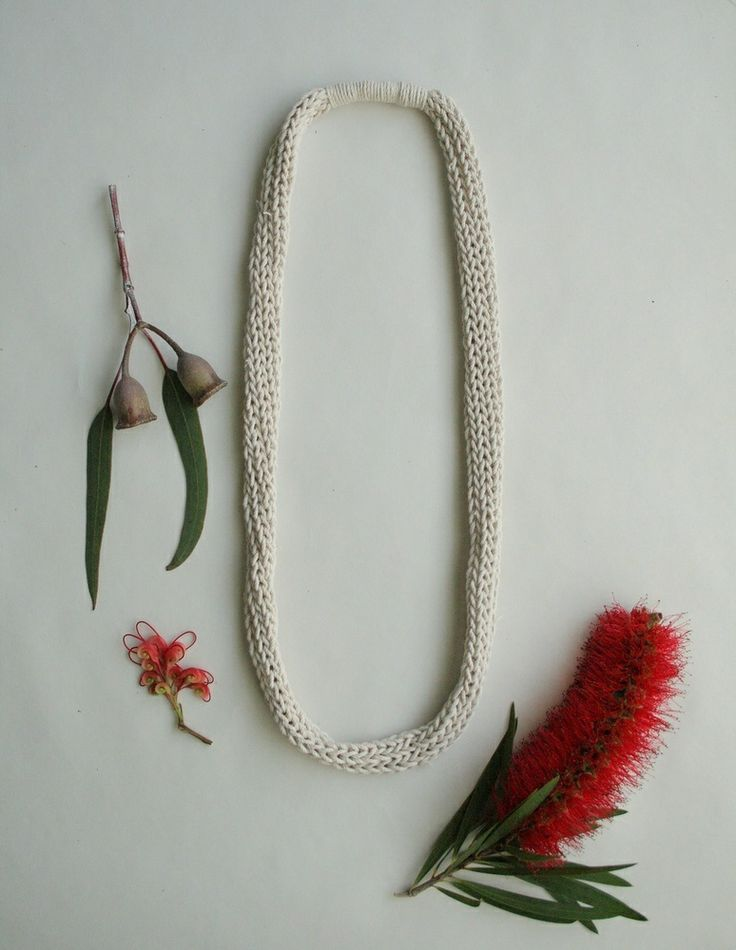 alchemy - natural cotton knitted necklace