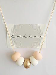 Gold Necklace // 5 Bead Combo - Emisa
