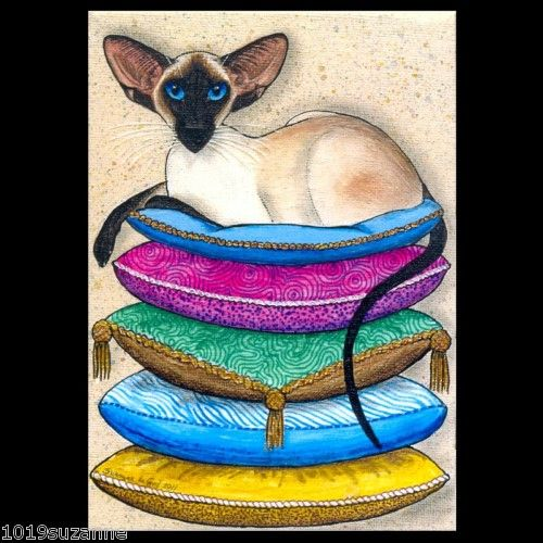 LARGE L.ED. SIAMESE CAT PAINTING PRINT SUZANNE LE GOOD   eBay