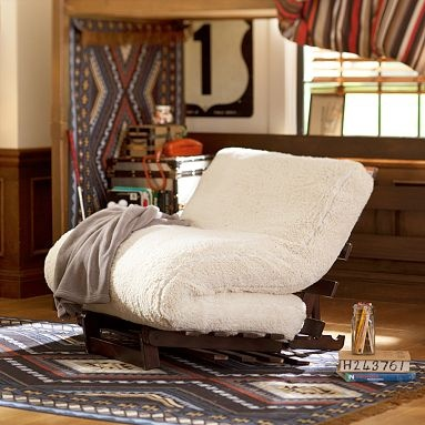 I love the Futon Set on pbteen.com... Ideal solution for sleep overs/ guests or for hanging out with friends