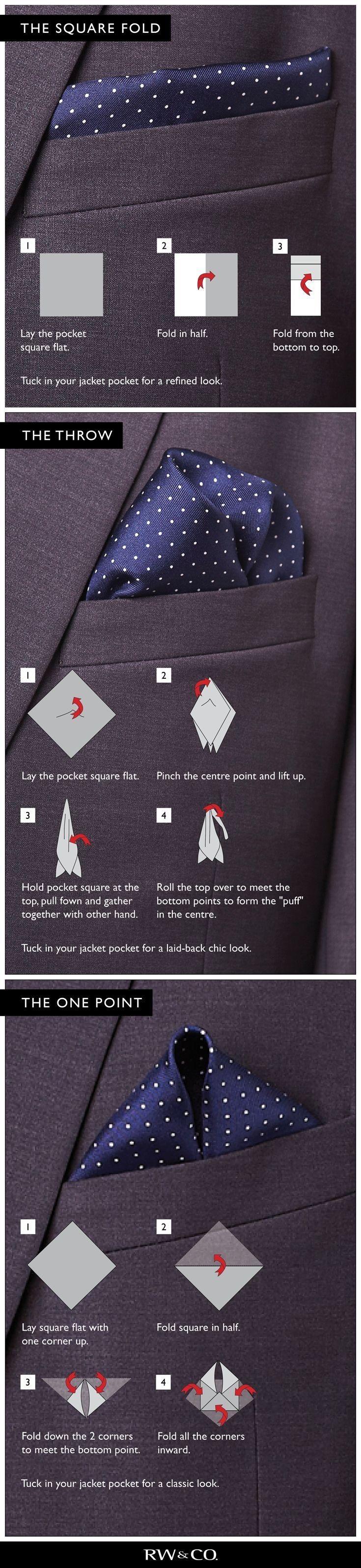 How to wear a handkerchief. ...repinned vom GentlemanClub viele tolle Pins rund um das Thema Menswear- schauen Sie auch mal im Blog vorbei www.thegentemanclub.de