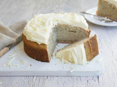 White Chocolate and Banana Mud Cake recipe