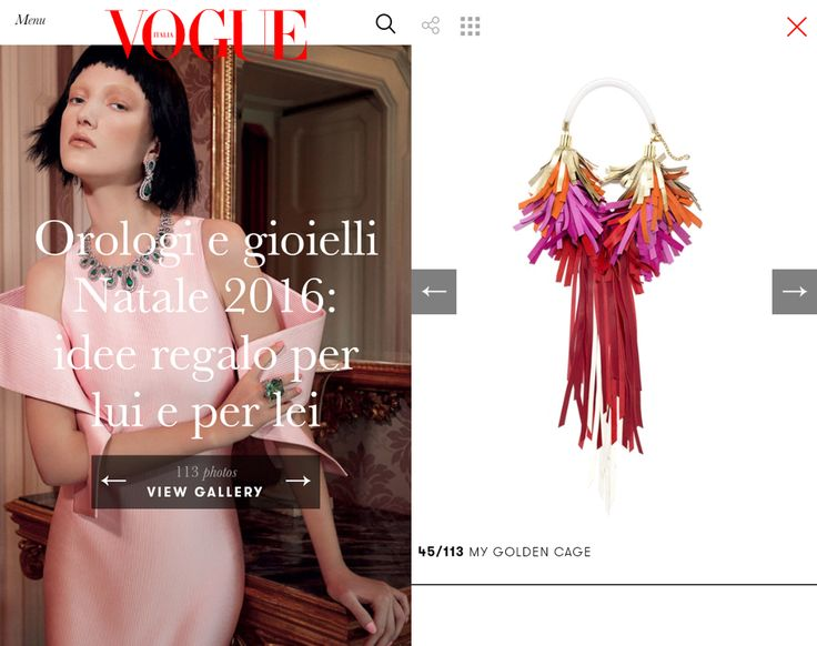 Christmas Vogue Gallery 2016 Bird Necklace_Reinbow Red ELEMENTS Collection 2016/17 Leather jewellery