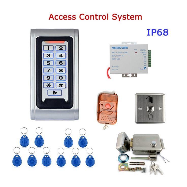 Ennio sy5000wr-c control remoto a prueba de agua de control de acceso de la puerta del kit del sistema de metal teclado con lector de RFID bricolaje cerradura eléctrica