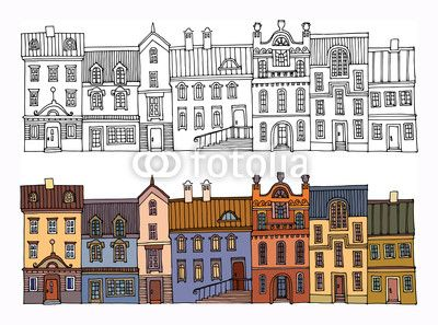 illustrations of old houses - Google Search