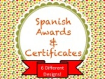 37 best certificatesawards images on pinterest classroom ideas spanish awards certificates for the classroom yadclub Images