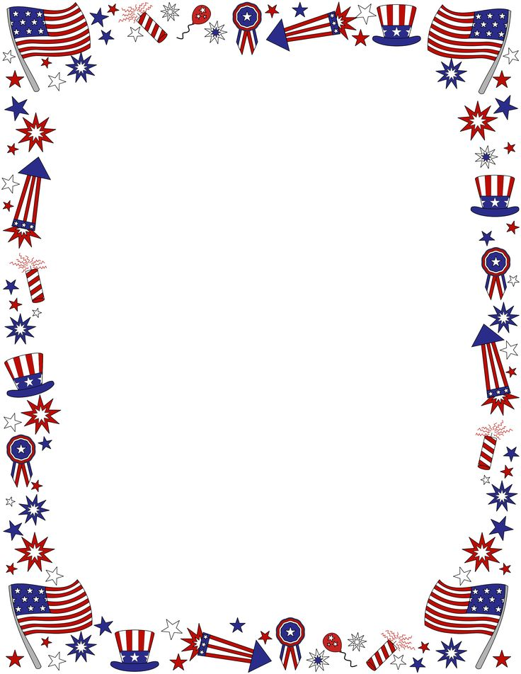 74 best 4th of July 2015 images on Pinterest Fourth of july - downloadable page borders for microsoft word