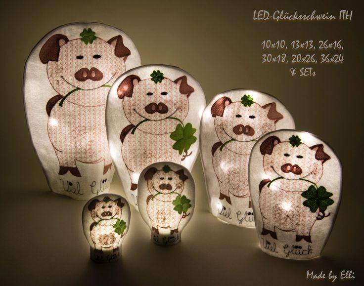 LED-Glücksschwein