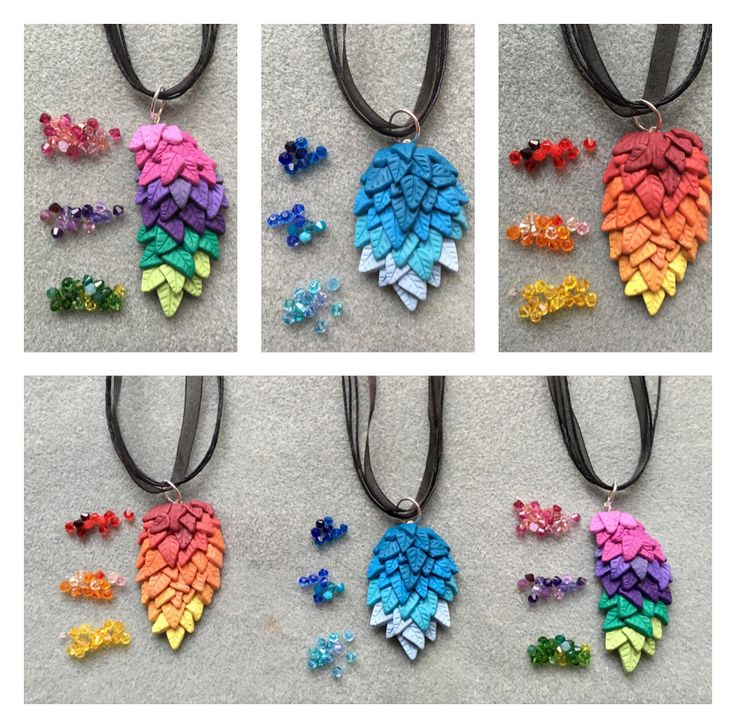 Polymer Clay Wings in Ombré colours #jewellery #etsy #polymerclay #handmadejewellery
