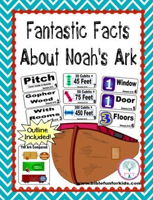 Fantastic Facts About Noah's Ark Visuals with several ideas to use this set #Biblefun                                                                                                                                                     More