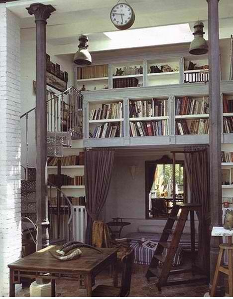 Loft!!!: Bookshelves, Spirals Staircases, Home Libraries, Loft, Reading Nooks, Books Nooks, Small Spaces, House, Places