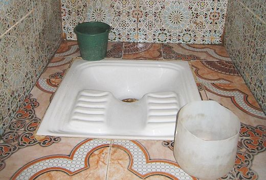 Traditional Toilets In Morocco Are Holes In The Ground