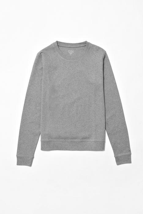 COS: Restless Gray,  Woolen, Melang Sweathshirt, Melang Sweatshirts,  Woollen
