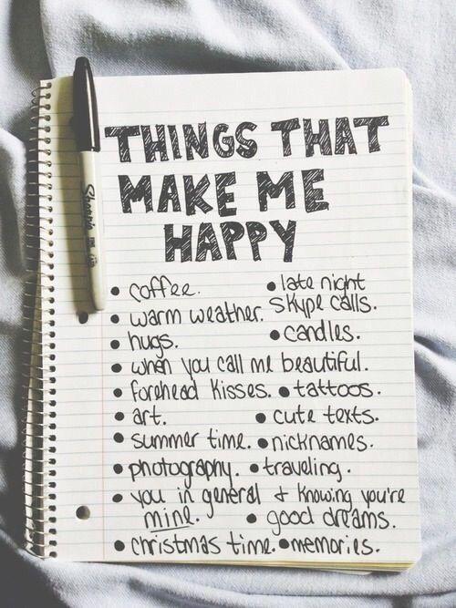 I should do a list like that