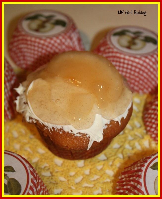 Apple Pie cupcakes via MN Girl Baking