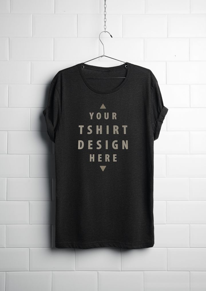 Realistic hanging T-Shirt Mockup perfect to show how your T-Shirt design gonna look like on print. This free T-Shirt Mockup also come up with texture.