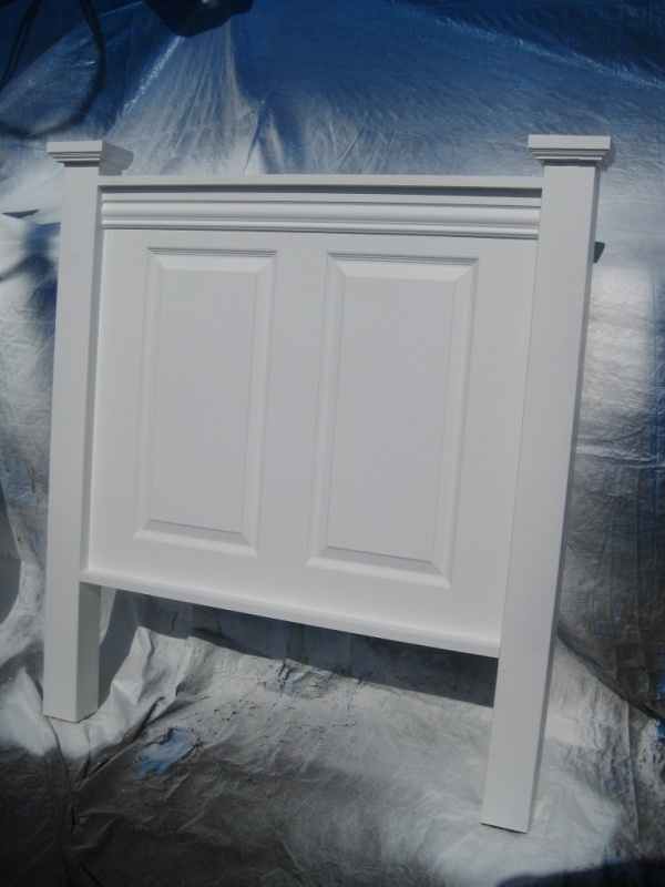 Vintage Headboard - twin bed headboard painted satin white image made with  old wood doors - Best 20+ Twin Bed Headboards Ideas On Pinterest Nautical Ikea