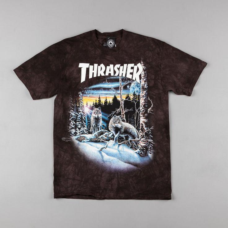 Thrasher 13 Wolves T-Shirt - Black Tie Dye
