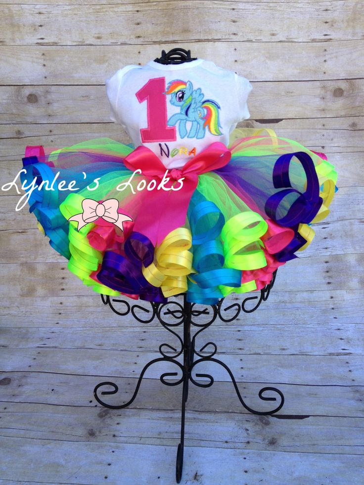My Little Pony Ribbon Trim tutu/Rainbow Tutu by LynleesLooks on Etsy https://www.etsy.com/transaction/1004729525