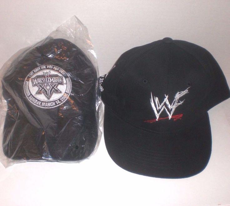 WWF WWE Wrestling Caps Hat Lot NYSE Stock Symbol 2000 Wrestlemania 2004 Black #HeadMaster #BaseballCap