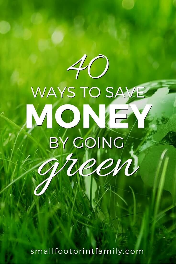 Click to learn 40 basic steps to going green that will not only go easy on the planet, but will go very easy on your wallet, too.  #greenliving #greenparenting #ecofriendly #sustainability #gogreen #naturalliving #climatechange