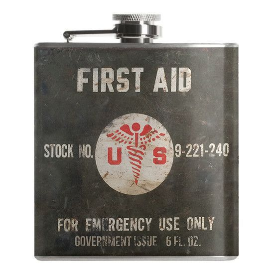 MEDIC! This 6 ounce flask features a screw down cap and full stainless steel construction with laser welded edges and full outdoor vinyl for years of use. Our uniquely designed flasks are the perfect