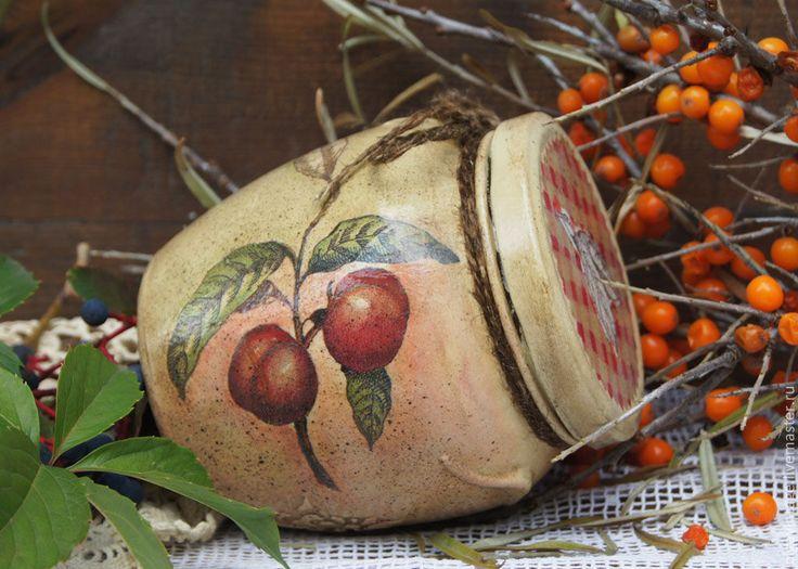 Купить Баночка для кухни Сбор урожая. Персики и абрикосы - банки для продуктов, банки для специй