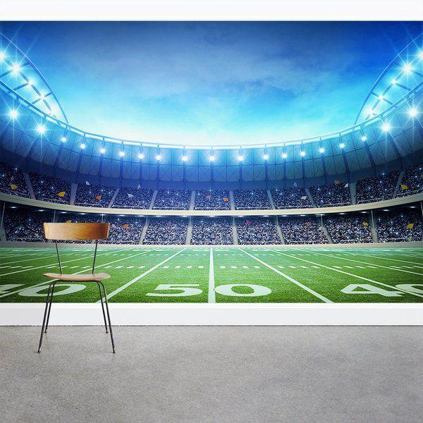 Under The Lights Football Stadium 8 X 144 3 Piece Wall Mural