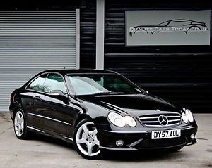 YES PLEASE!!! 2007 '57' Mercedes CLK320 CLK 320 CDI Diesel 7G-Tronic AMG Sport Coupe Black