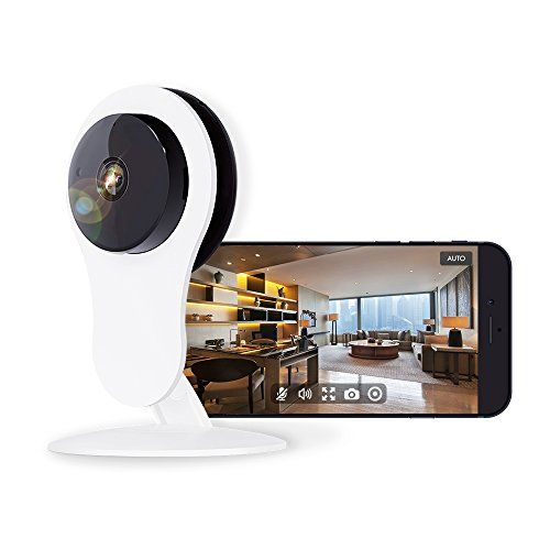 Home Security Camera 1080P Works with Alexa Echo Show Netvue HD WiFi Wireless IP Camera with Motion Detection Alarm7x24h Cloud Storage4x Digital Zoom Night Vision2 Way Audio Baby/Nanny/Pet Cam