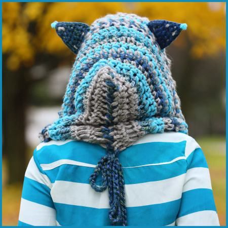 Cheshire Cat Hoodie - free crochet pattern plus video from YARNutopia By Nadia Fuad