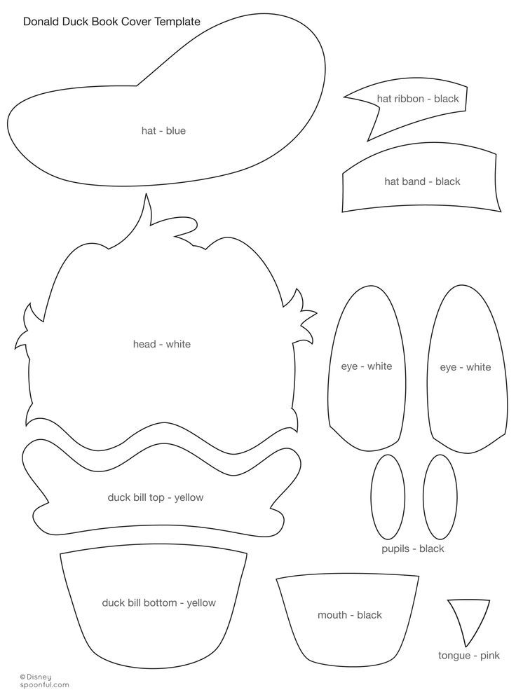 Resultado de imagen de donald duck hat template printable                                                                                                                                                                                 More