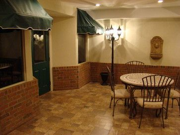 the finished basement llc traditional basement cincinnati the finished basement brick on just bottom half wall pinterest basements half walls
