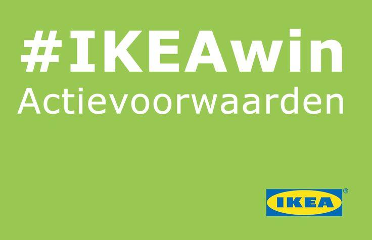 Hier vind je de voorwaarden van deze IKEA actie op Pinterest.