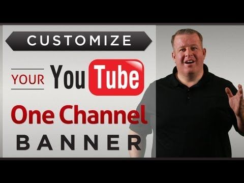 Derral Eves explains how to create a custom banner for a YouTube channel and give free templates to make creating a banner image much easier.      How to Customize Your YouTube One Channel Banner 2013 - Free Templates