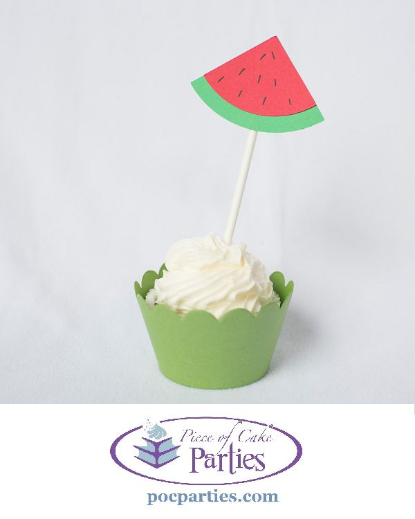 Nothing makes your cupcake look cuter or more polished that a cupcake topper! This is a set of 12 handmade watermelon cupcake toppers. Cupcake wrappers are not included, but they can be purchased sepa