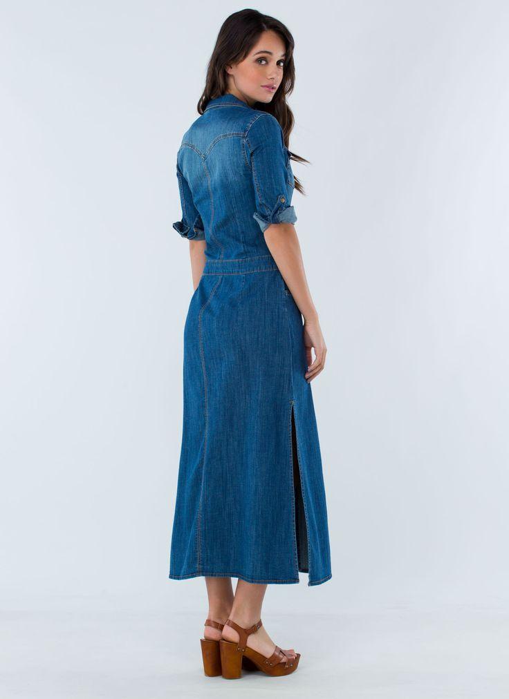 Denim Maxi Dresses | Dresscab