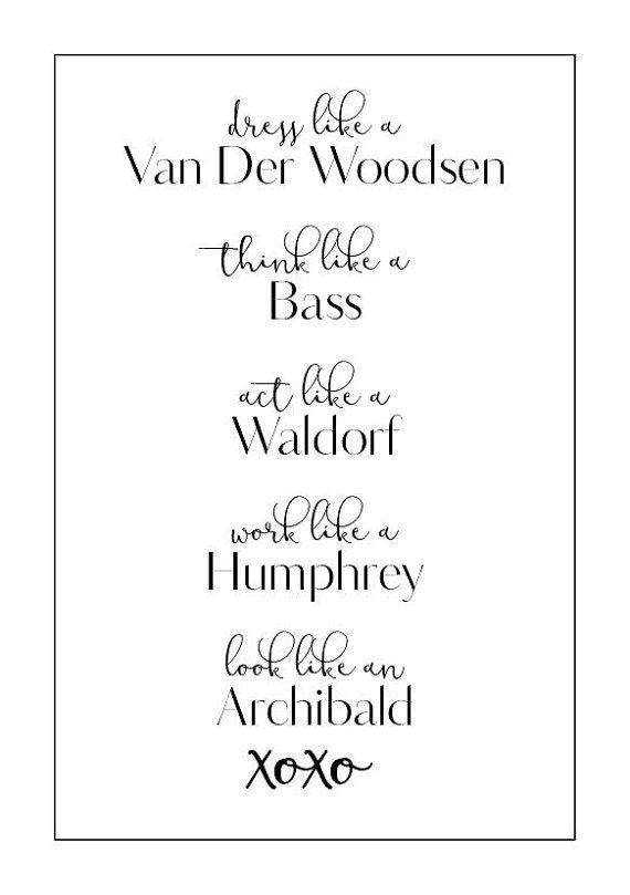 Gossip Girl Art Print A5: Blair Waldorf par SiobhanMaeCreative