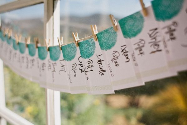 Love the colour on these place cards.