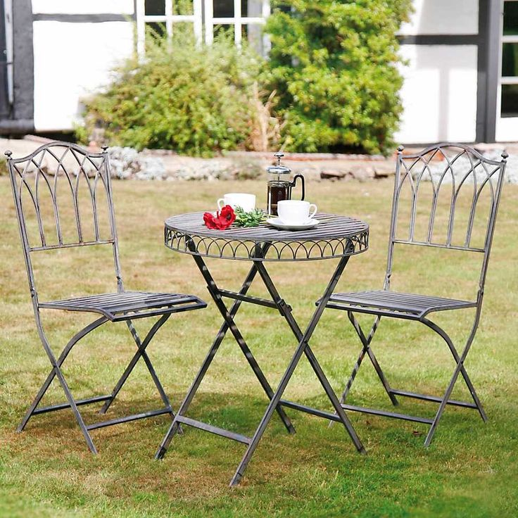 metal garden table and chairs google search - Garden Furniture Steel