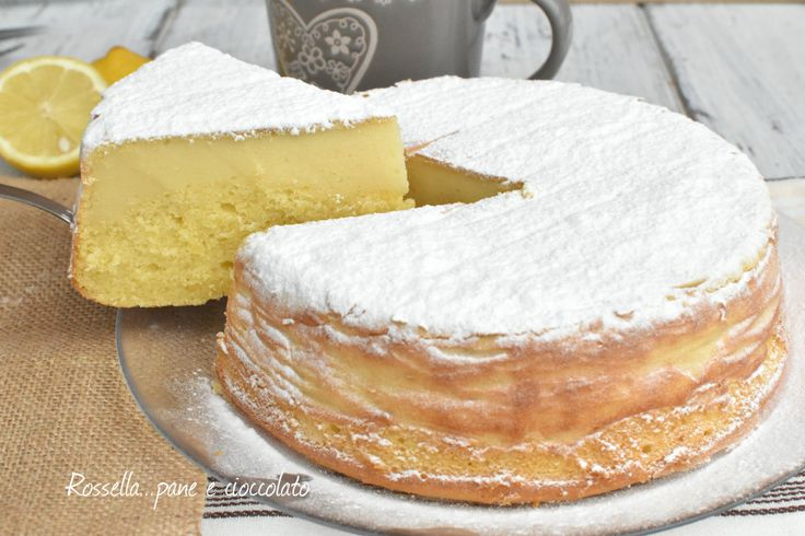 Torta+Magica+al+Limone+e+Ricotta+Cremosa+Infallibile